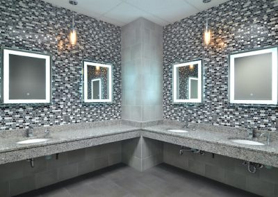 Luxury women and men's locker rooms at the Workout Club