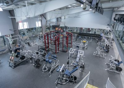 Aerial shot of the Gym Floor at Workout Club in Londonderry