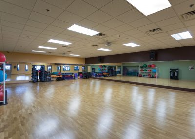 Group Fitness Room at Workout Club in Manchester