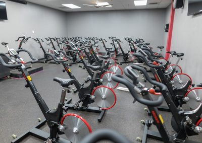 Indoor Cycling Room at Workout Club in Salem