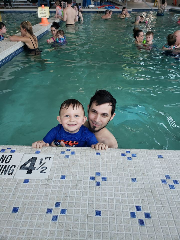 Kids happy to learn how to swim at Workout Club